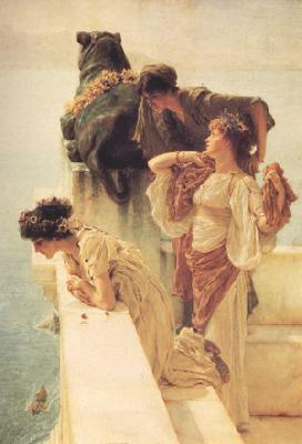 Alma-Tadema, Sir Lawrence A Colen of Vantage (nn03) oil painting image