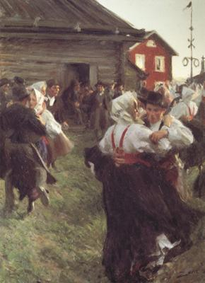 Anders Zorn Midsummer Dance (nn02) oil painting image