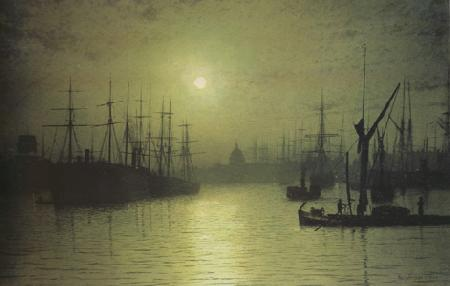 Atkinson Grimshaw rNightfall down the Thames (nn03) oil painting image