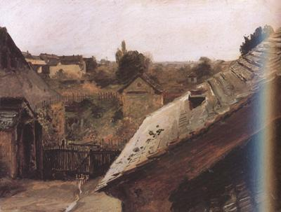 Carl Blechen View of Rooftops and Gardens (nn02) oil painting image