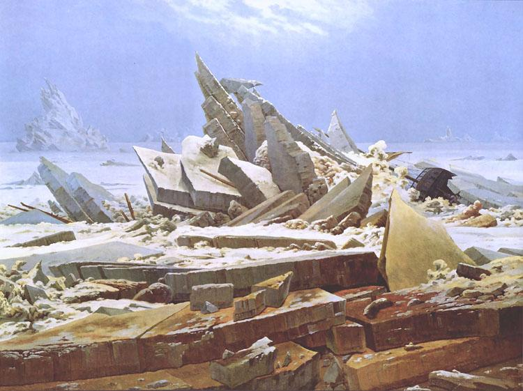 Caspar David Friedrich The Wreck of the Hope (nn03) oil painting image