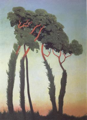 Felix  Vallotton Landscape with Trees (nn03) oil painting image