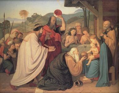 Friedrich Johann Overbeck The Adoration of the Magi (nn03) oil painting image