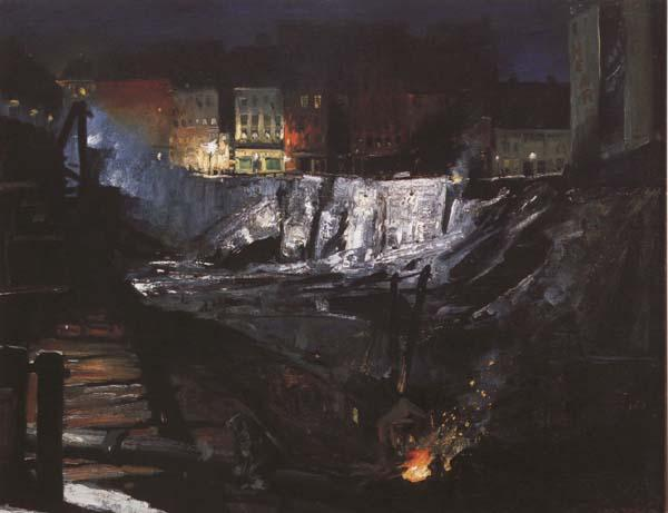 George Bellows Excavation at Night (mk43) oil painting image