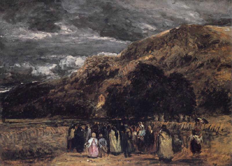 David Cox A Welsh Funeral oil painting image