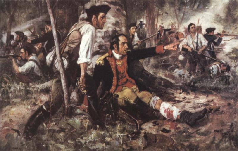 Frederick Coffay Yohn General Herkimer Directing the Battle of Oriskany oil painting image