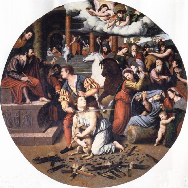 Juan Vicente Masip Martyrdom of St.Agnes oil painting image