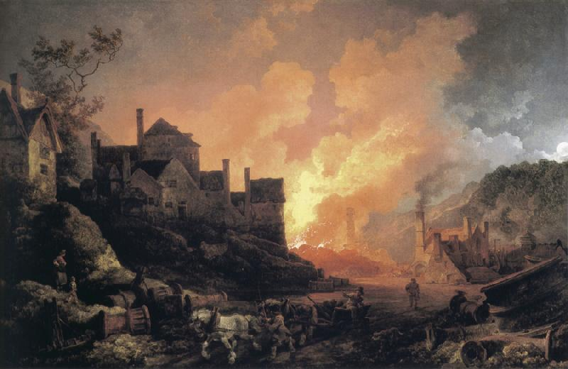 Philip James de Loutherbourg Coalbrookdale by Night oil painting image